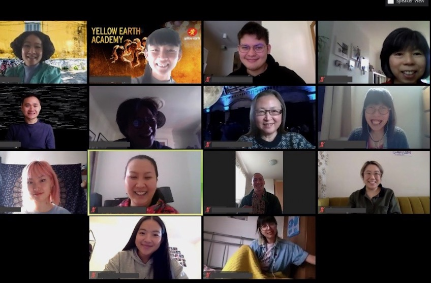 Manchester Writers Academy students and tutors meeting on Zoom.